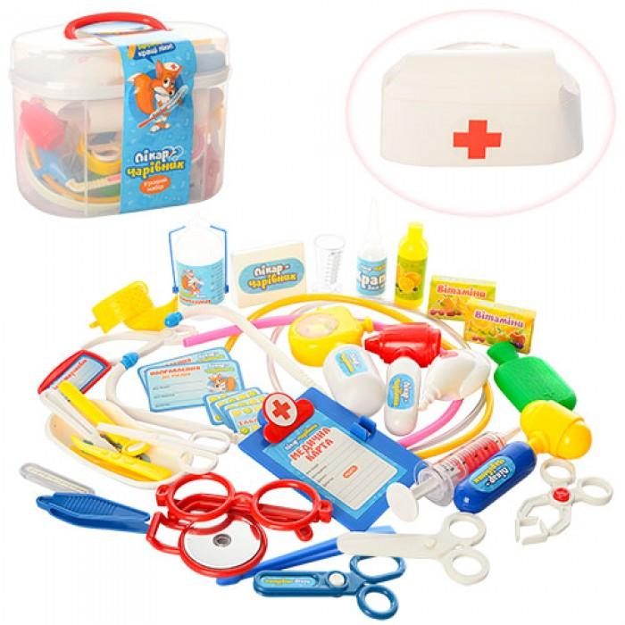 Доктор стетоскоп, шприц, очки, 36 предметов