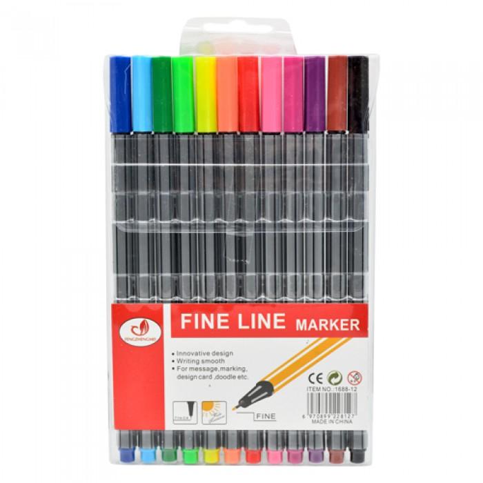 Набор ручек «Fine Line» 12 цветов