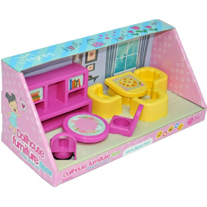 Мебель для кукол, гостиная, набор 8 элементов
