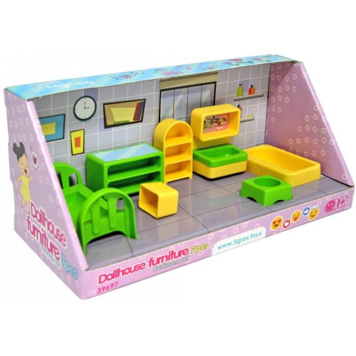 Мебель для кукол, спальня, набор 7 элементов