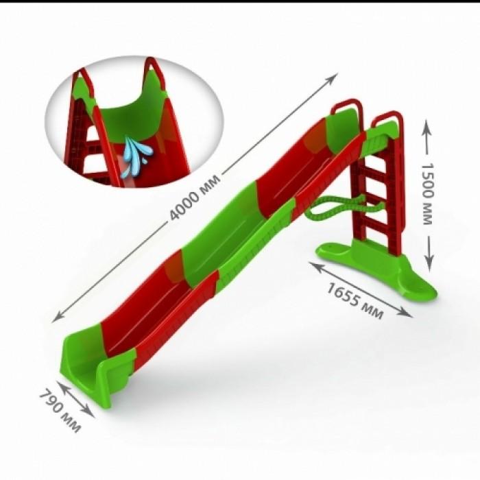 Горка Мега 400см красно-зеленая
