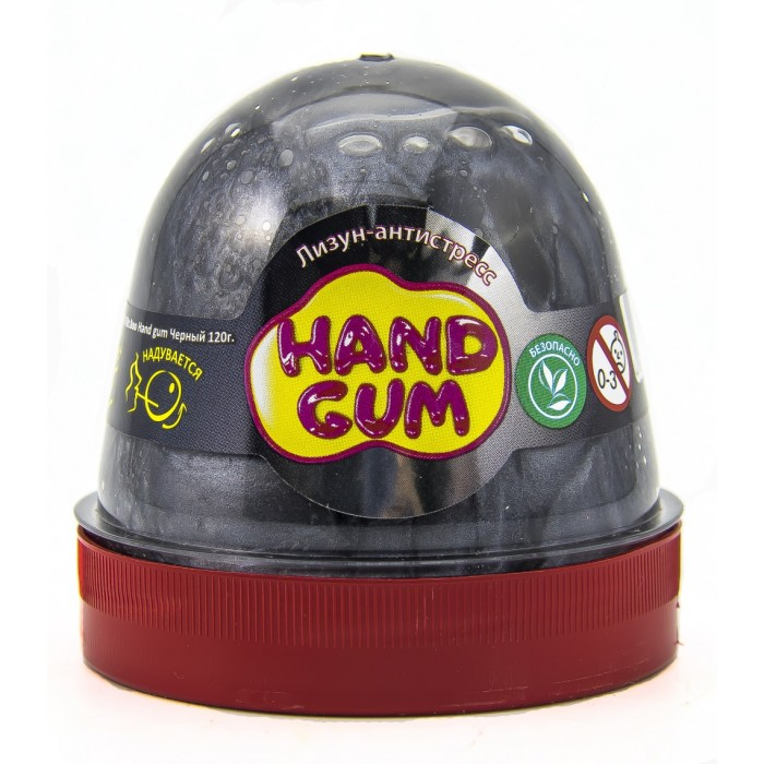 Лизун-антистресс ТМ Mr.Boo Hand gum, черний 120г