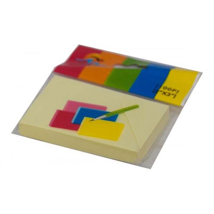 Бумага для заметок с липким шаром, 100 листов, 70гр, желтая