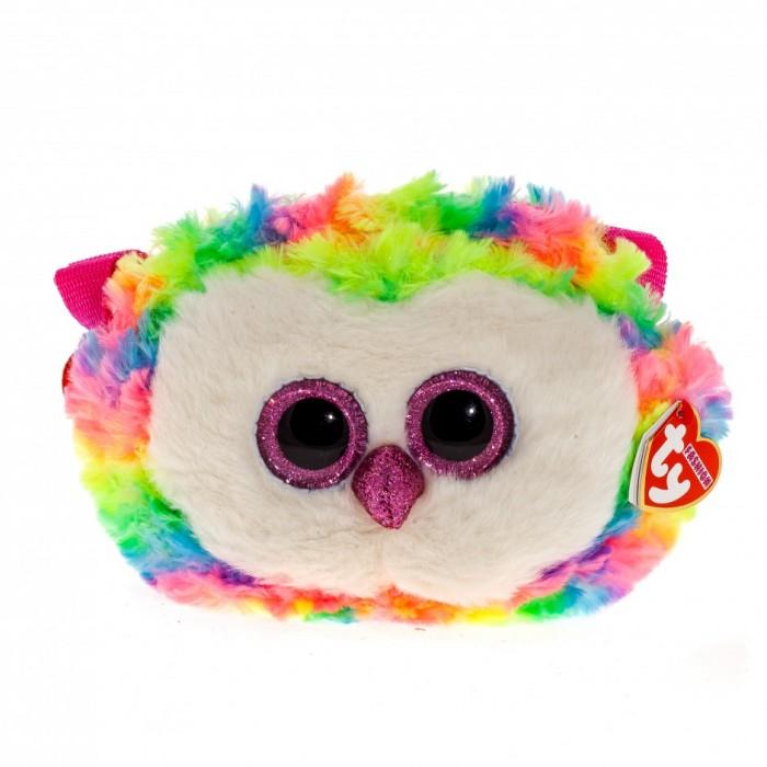 Мягкая игрушка сумочка TY Gear Разноцветная сова «Owen» 18см