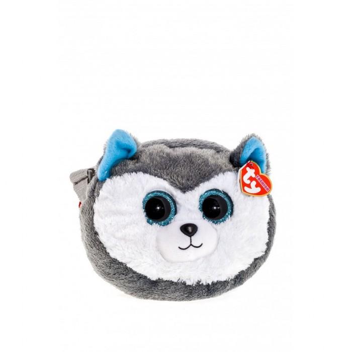 Мягкая игрушка сумочка TY Gear Хаски «Slush» 18см