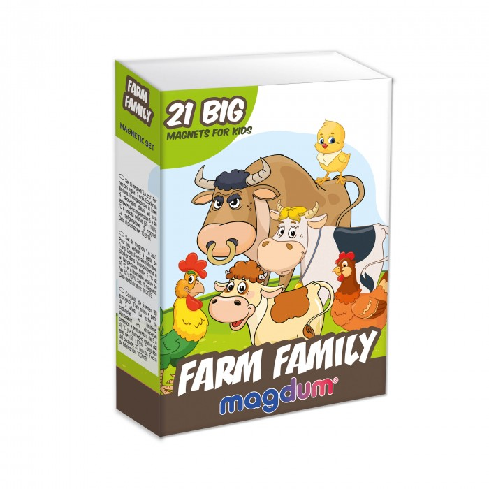 Набор магнитов Magdum «Ферма Семейки» 21 магнит