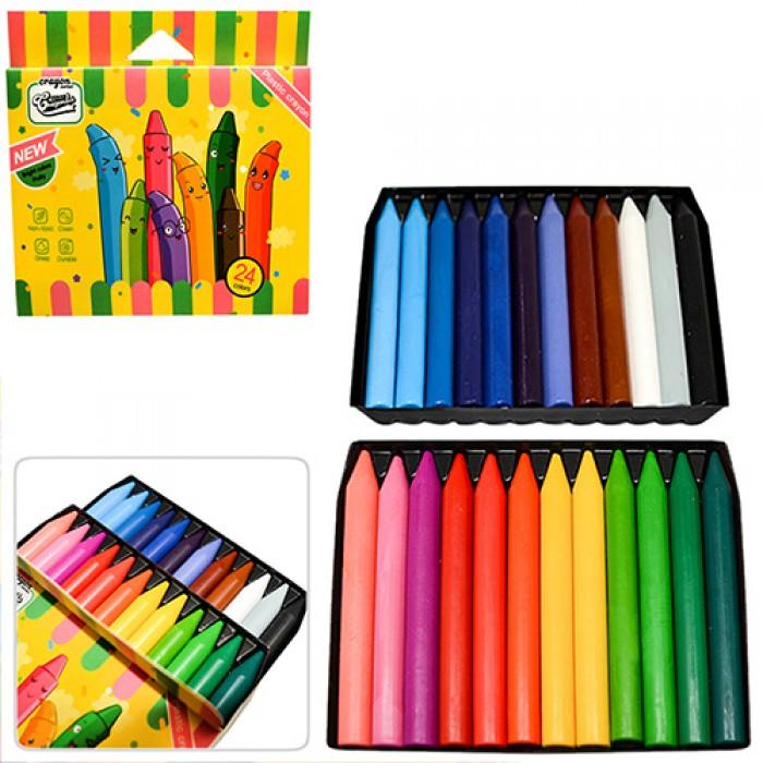 Мелки восковые 24 цвета JUMBO «CrayonLab»