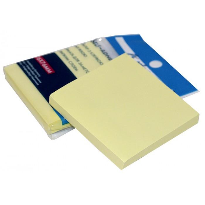 Бумага для заметок с липким слоем, 100 листов, желтый