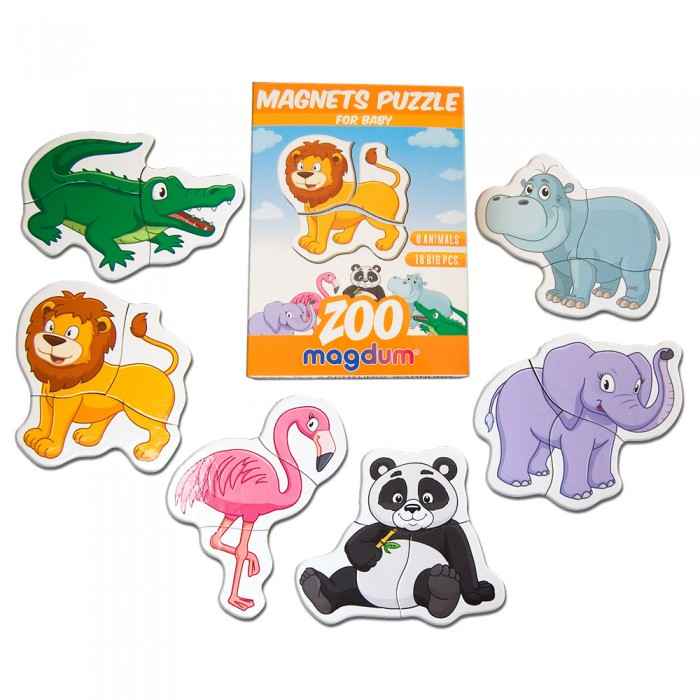 Пазлы магнитные «Magnets puzzle for baby Zoo», 18 магнитов
