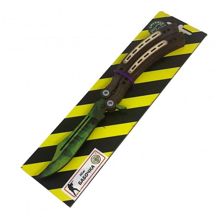 Нож деревянный «Бабочка» Изумруд