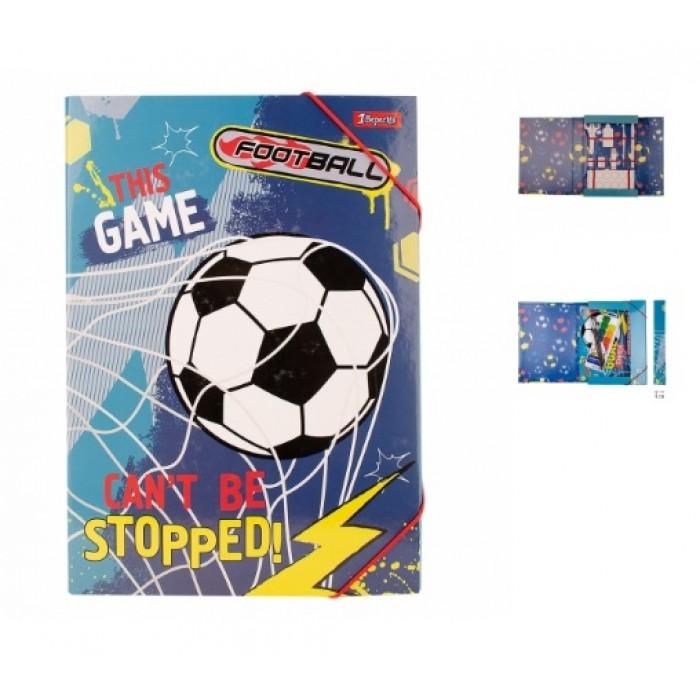 Папка для труда картонная «Team football»