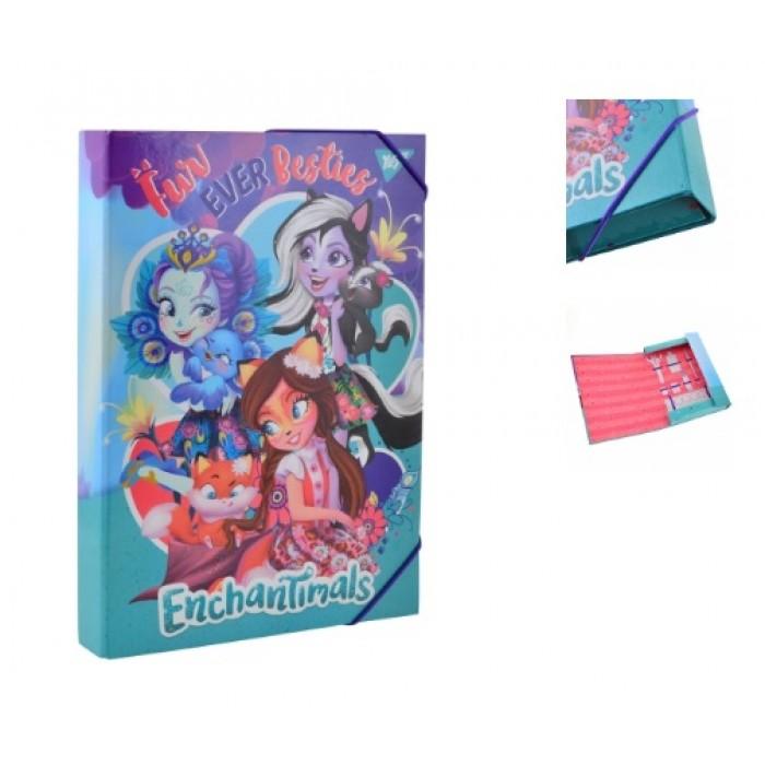 Папка для труда А4, картонная «Enchantimals»