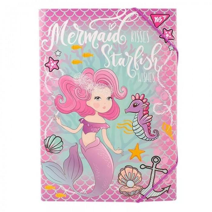 Папка для труда YES А4, картонная «Mermaid»