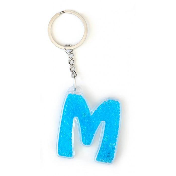 Брелок YES буква «М», голубая