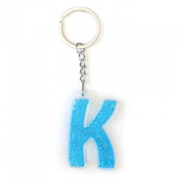 Брелок YES буква «К», голубая