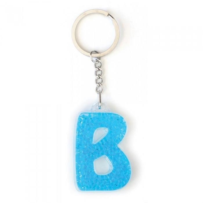 Брелок YES буква «В», голубая