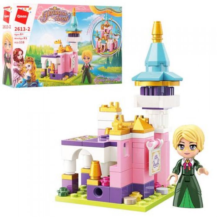 Конструктор Qman, замок принцессы, фигурка, 116 деталей