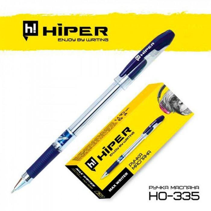 Ручка маслянная Hiper Max Writer, 0.7мм, синяя, цена за 10шт