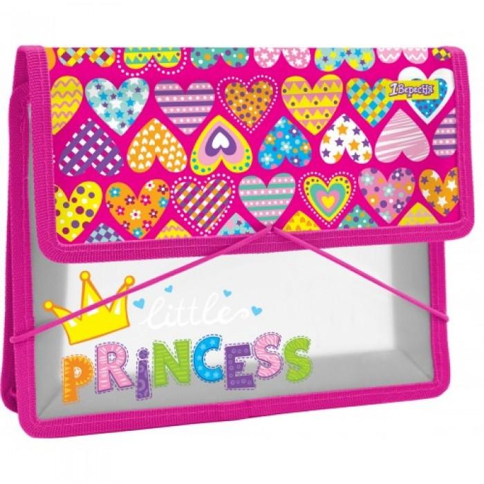 Папка для тетрадей пластиковая на резинке «Little Princess»