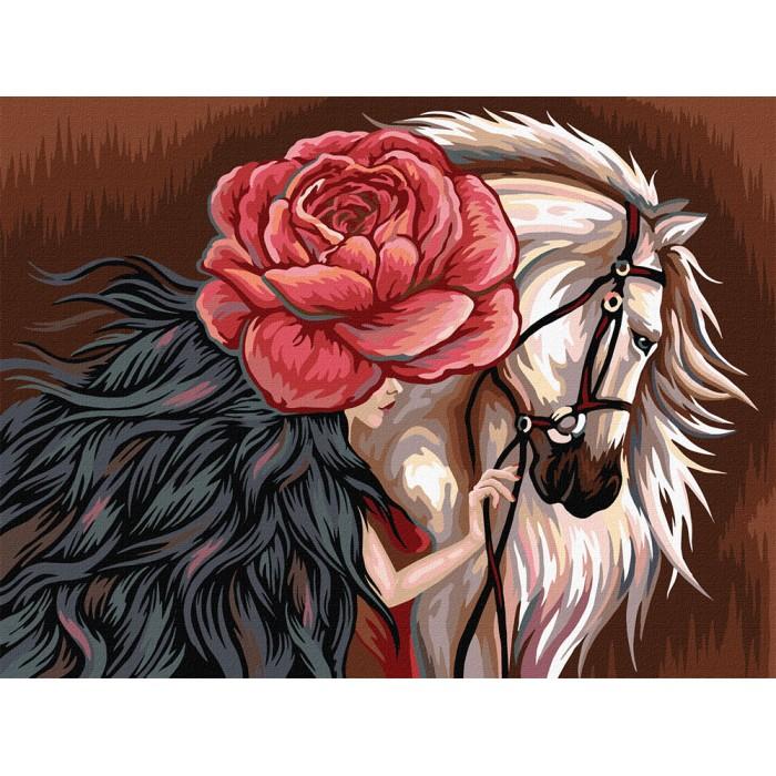 Картина по номерам  №5 «Конь» 30*40см