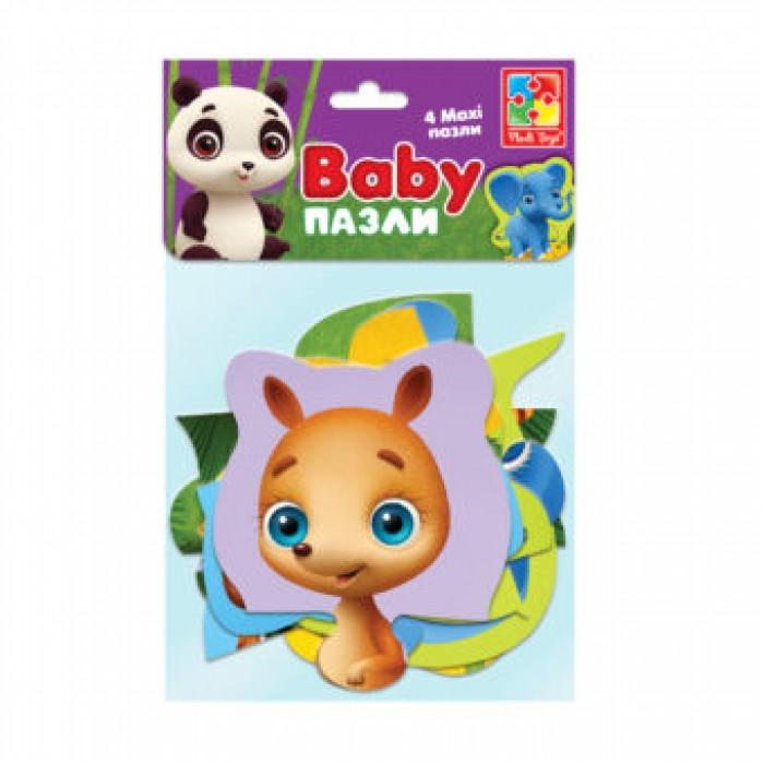 Беби MAXI пазлы картонные в пакете «Зоопарк»
