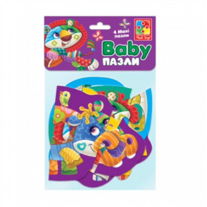 Беби MAXI пазлы картонные в пакете «Диво-зоопарк»