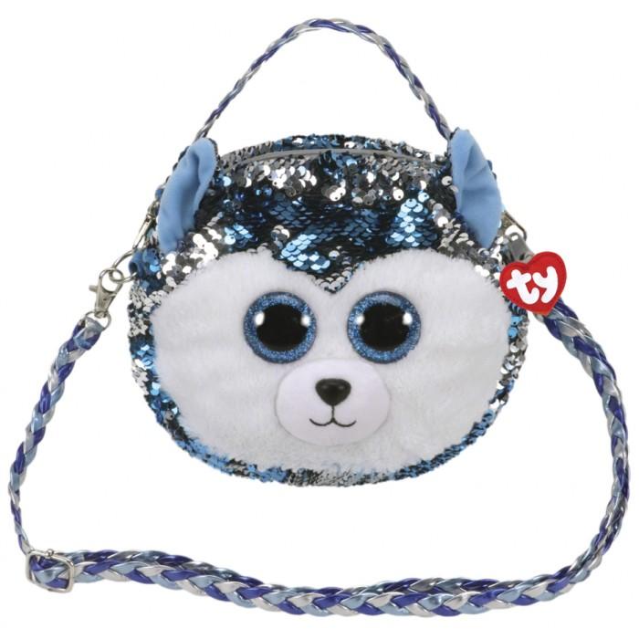 Мягкая игрушка сумочка TY Fashion Хаски «Slush»