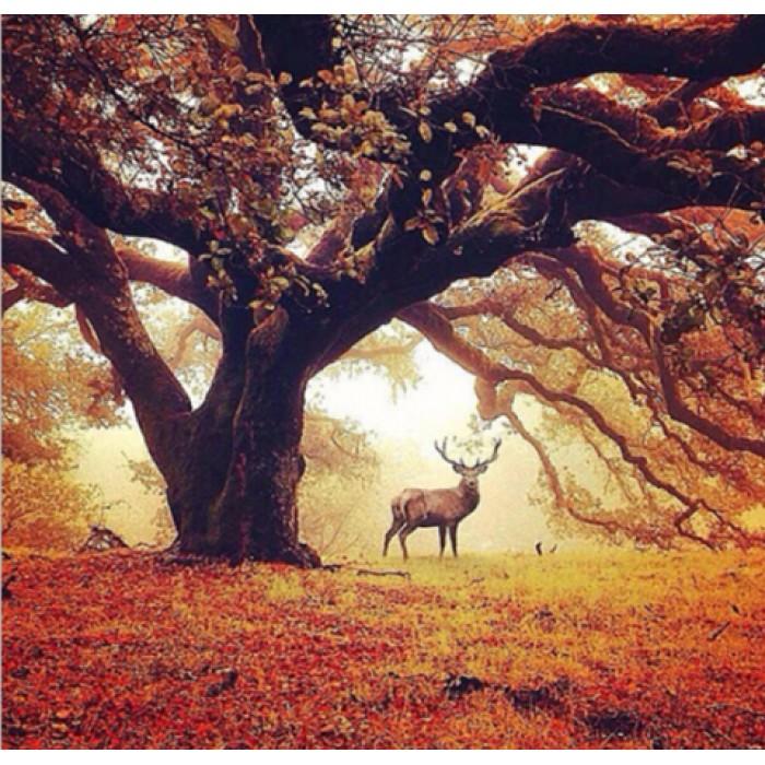 Алмазная мозаика «Древо жизни», 30*40см, с рамкой
