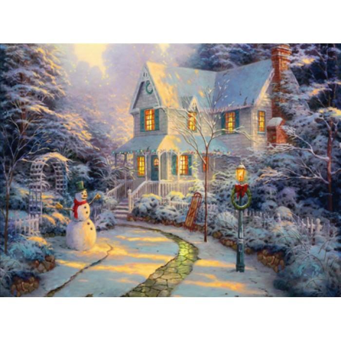 Алмазная мозаика «Рождество», 30*40см, с рамкой