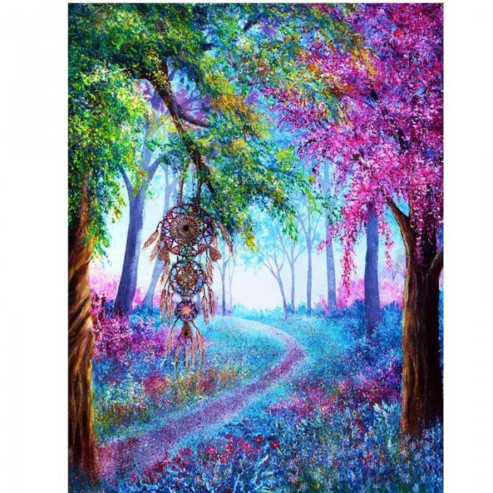 Алмазная мозаика «Дерево грёз», 30*40см, с рамкой