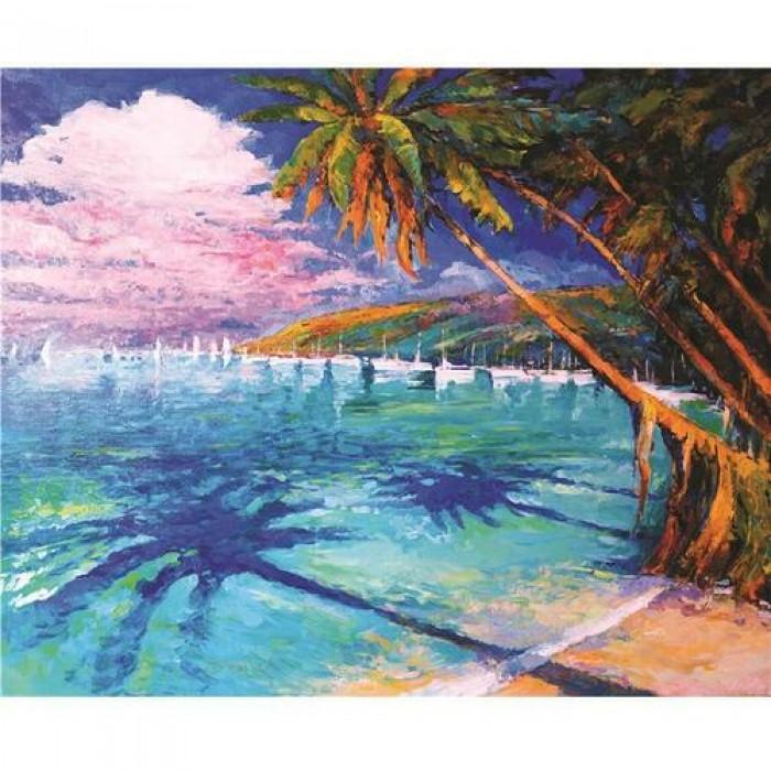 Алмазная мозаика «Карибы», 30*40см, с рамкой