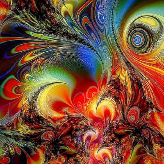 Алмазная мозаика «Абстракция», 30*40см, с рамкой