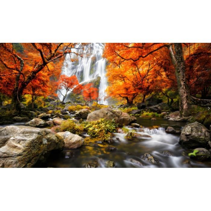 Алмазная мозаика «Горный водопад», 30*40см, с рамкой
