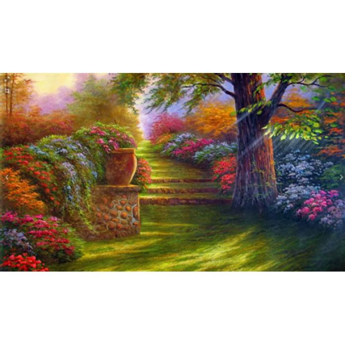 Алмазная мозаика «Старинный парк», 30*40см, с рамкой