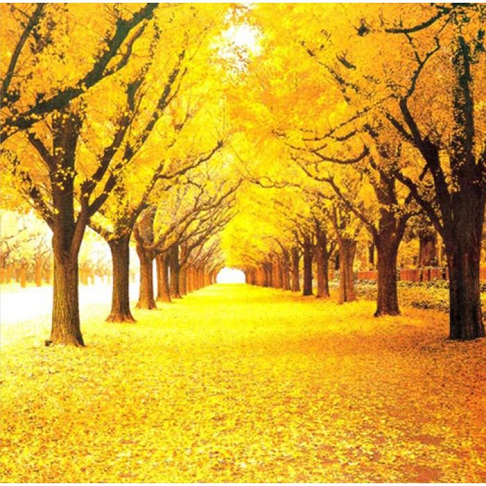 Алмазная мозаика «Желтая листва», 30*40см, без рамки