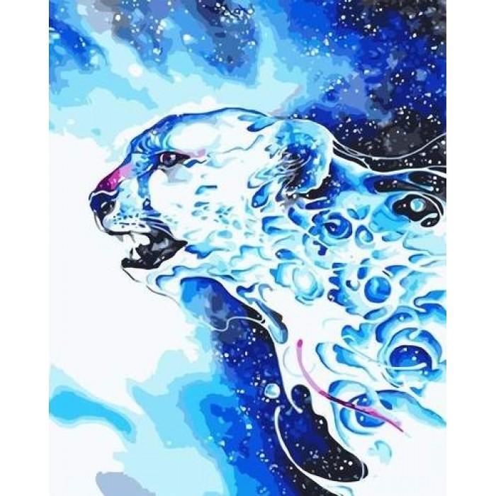 Алмазная мозаика «Снежный барс», 30*40см, без рамки