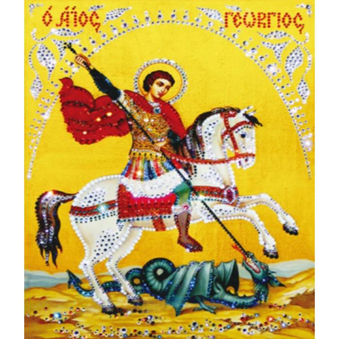 Алмазная мозаика «Георгий Победоносец», 30*40см, без рамки