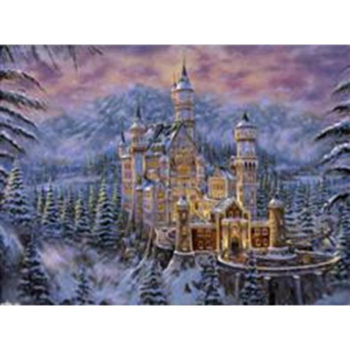 Алмазная мозаика «Замок в горах», 30*40см, без рамки