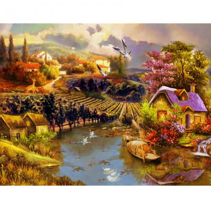 Алмазная мозаика «Деревенские сады», 30*40см, без рамки