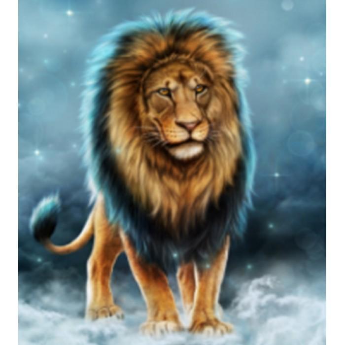 Алмазная мозаика «Король зверей», 30*40см, без рамки