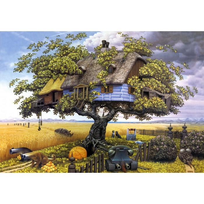 Алмазная мозаика «Домик на дереве», 30*40см, без рамки