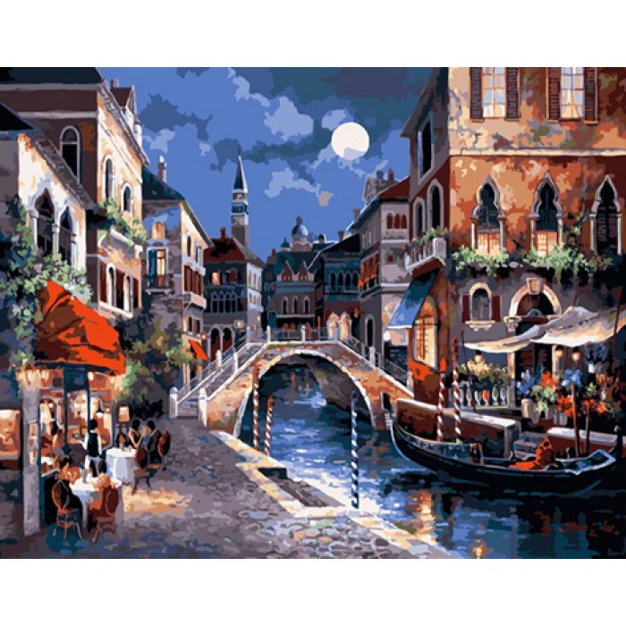 Алмазная мозаика «Вечер в Венеции», 30*40см, без рамки