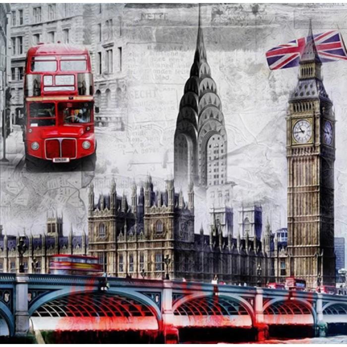 Алмазная мозаика «Великобритания», 30*40см, без рамки
