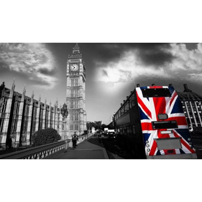 Алмазная мозаика «Шагая по Лондону», 30*40см, без рамки