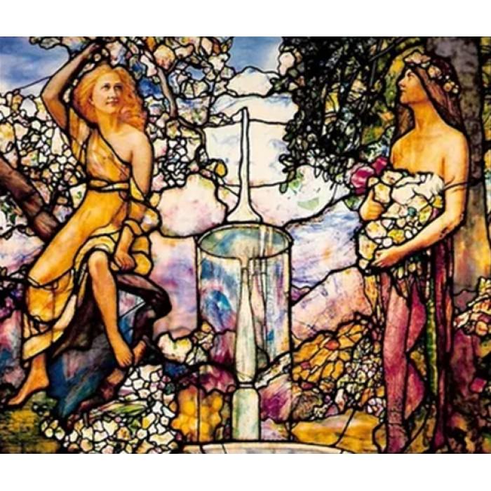 Алмазная мозаика «В саду», 30*40см, без рамки