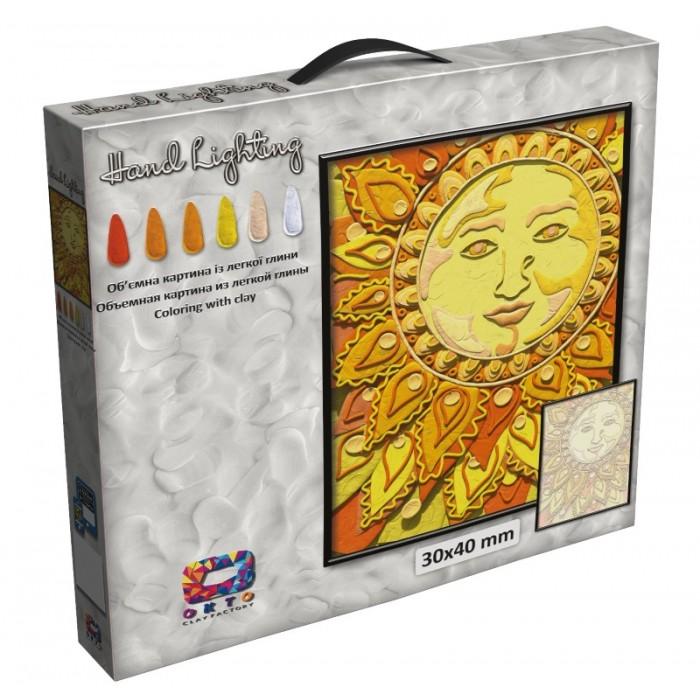 Картина с легкого пластилина TM Moon Light Clay, солнце
