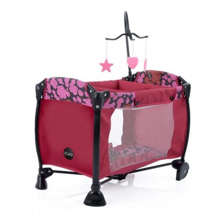Манеж для куклы, колеса 2шт, постель, подвеска, чехол