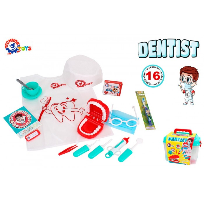 Игровой набор стоматолога, 16 предметов