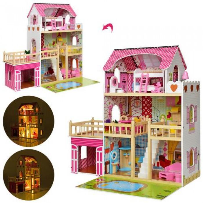 Домик деревянный 3 этажа, мебель