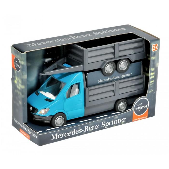 Автомобиль «Mercedes-Benz Sprinter» бортовой с прицепом циан